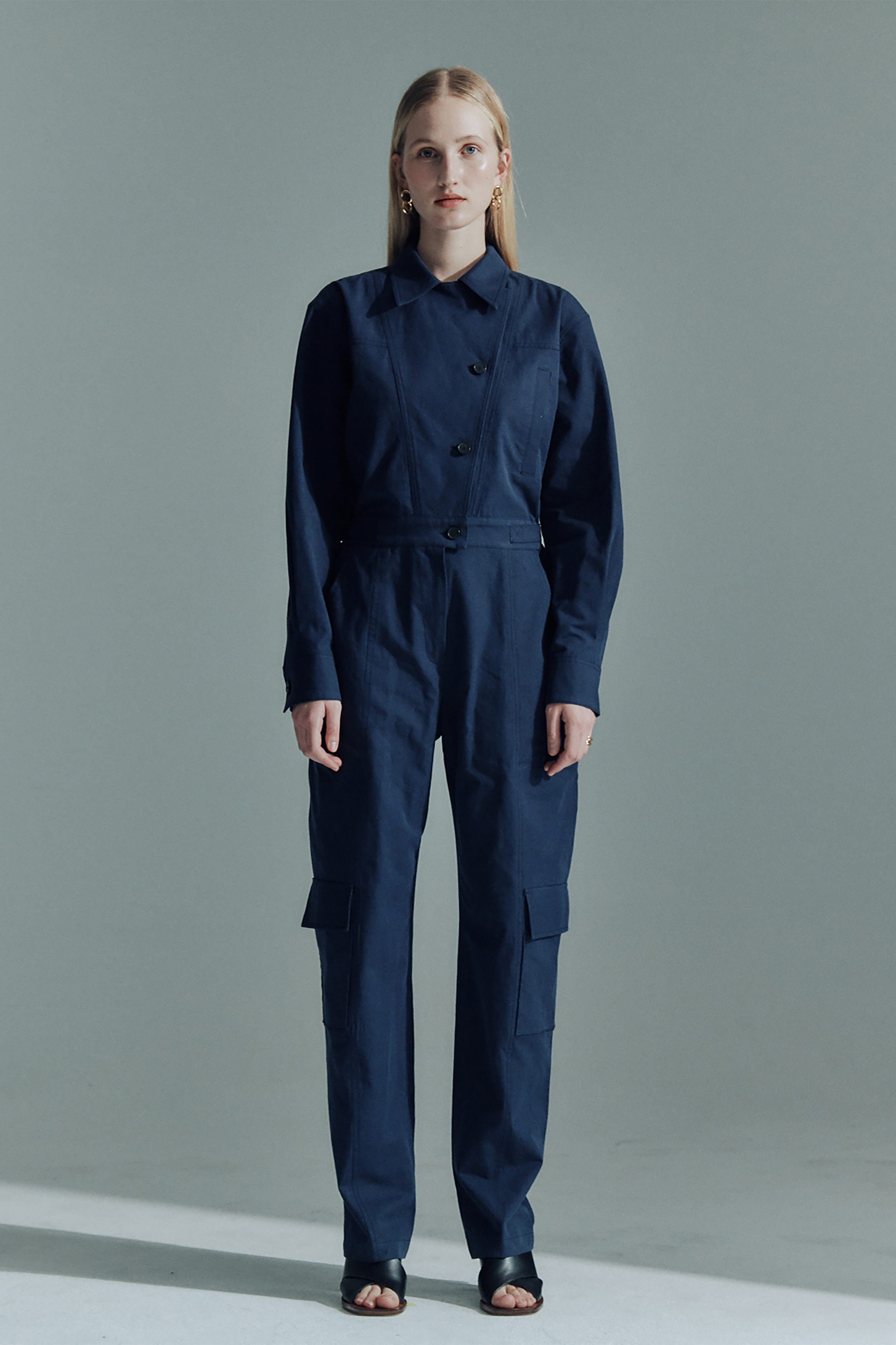 COTTON GARAGE JUMPSUIT_NAVY