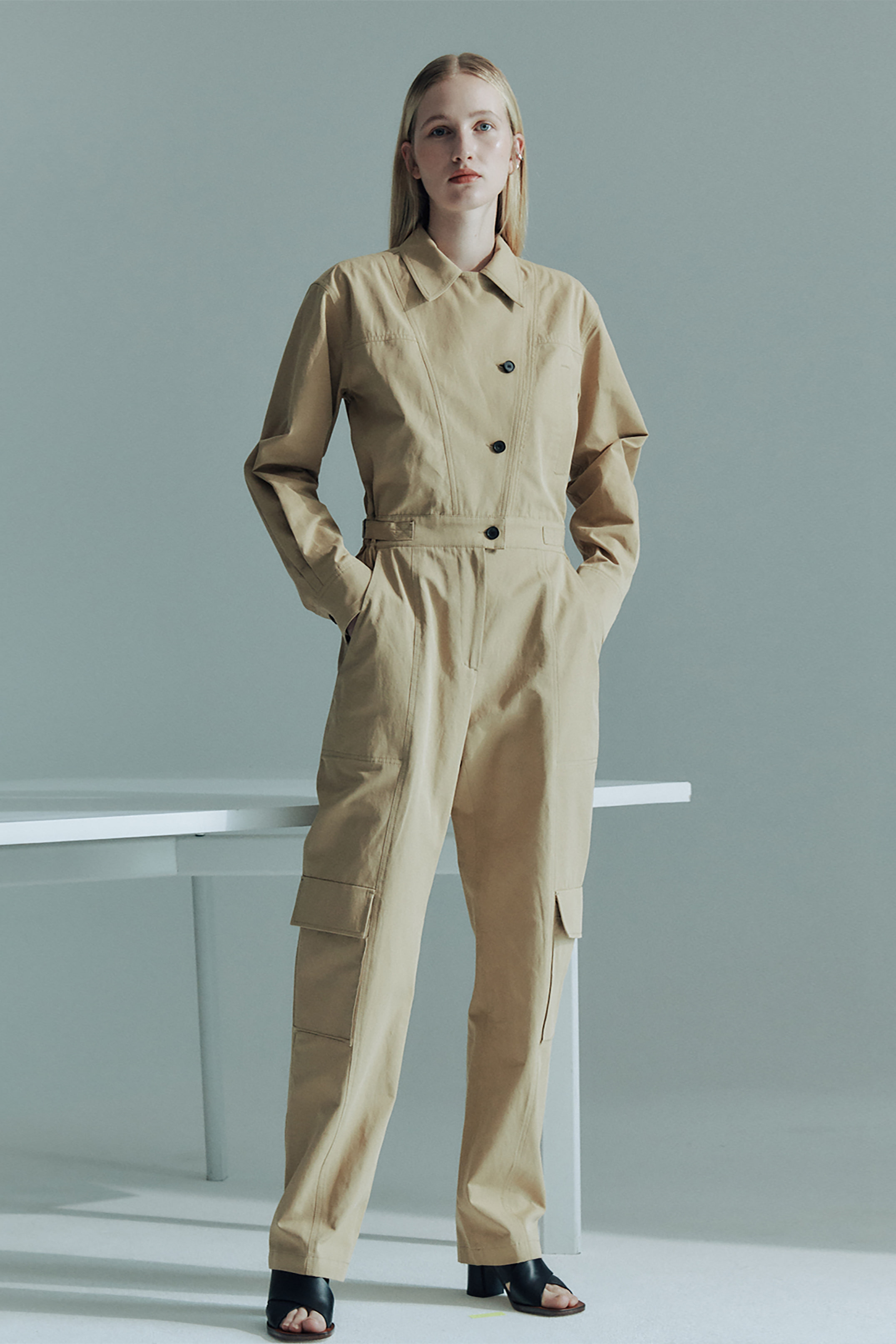 COTTON GARAGE JUMPSUIT_BEIGE